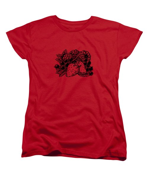 Forest Berries Women's T-Shirt (Standard Cut) by Irina Sztukowski