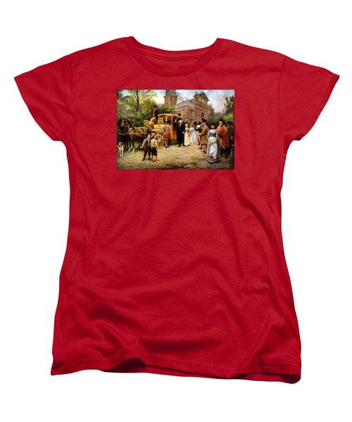 George Washington Arriving At Christ Church Women's T-Shirt (Standard Cut) by War Is Hell Store