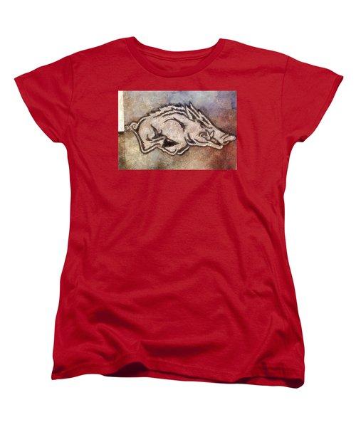 Go Hogs Go  Women's T-Shirt (Standard Cut) by Dawn Bearden