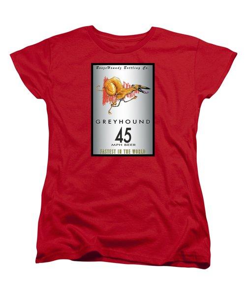 Greyhound 45 Mph Beer Women's T-Shirt (Standard Cut) by John LaFree
