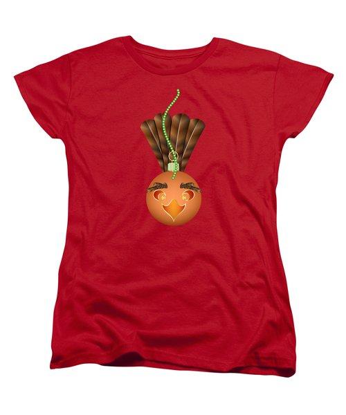 Hallowgivingmas Turkey Ornament Holiday Humor Women's T-Shirt (Standard Cut) by MM Anderson