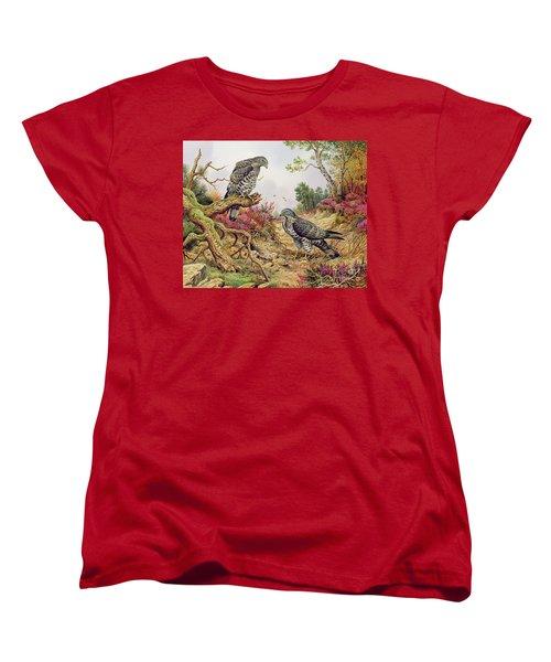 Honey Buzzards Women's T-Shirt (Standard Cut) by Carl Donner