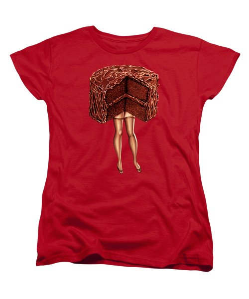 Hot Cakes - Devil's Food Women's T-Shirt (Standard Cut) by Kelly Gilleran