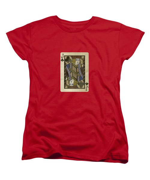 Jack Of Clubs In Wood Women's T-Shirt (Standard Cut) by YoPedro