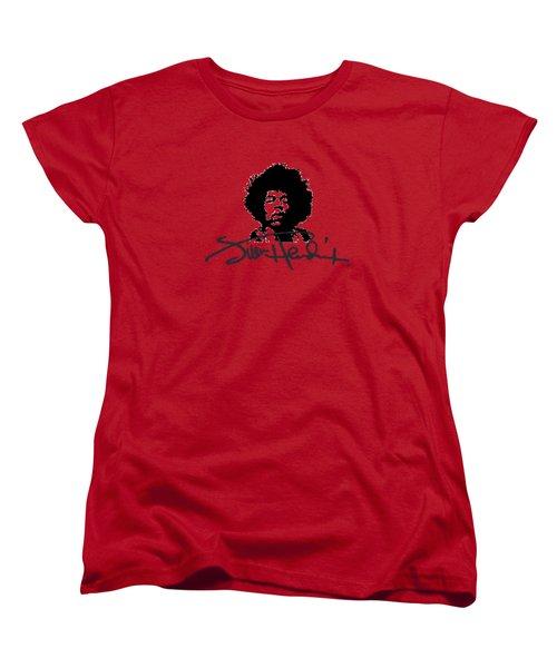 Jimi Hendrix Purple Haze Women's T-Shirt (Standard Cut) by David Dehner