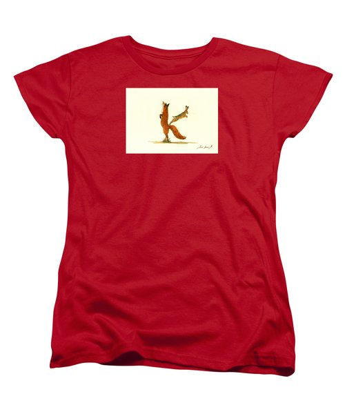 K Letter Woodland Alphabet Women's T-Shirt (Standard Cut) by Juan  Bosco
