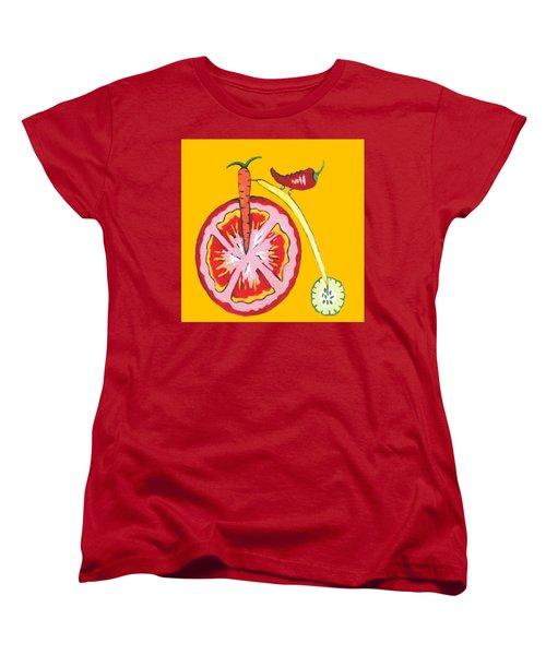 Kitchen Vegetable Aart Women's T-Shirt (Standard Cut) by Kathleen Sartoris