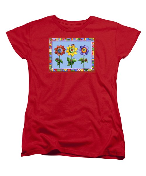 Ladybug Trio Women's T-Shirt (Standard Cut) by Shelley Wallace Ylst
