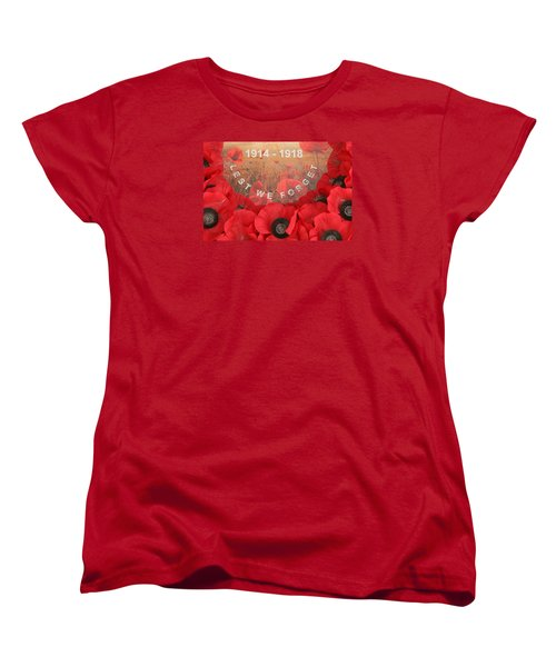 Women's T-Shirt (Standard Cut) featuring the photograph Lest We Forget - 1914-1918 by Travel Pics