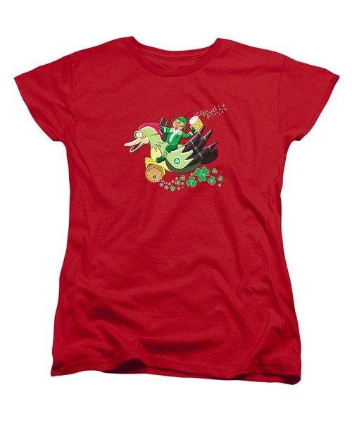 Lucky Leprechaun Women's T-Shirt (Standard Cut) by David Brodie
