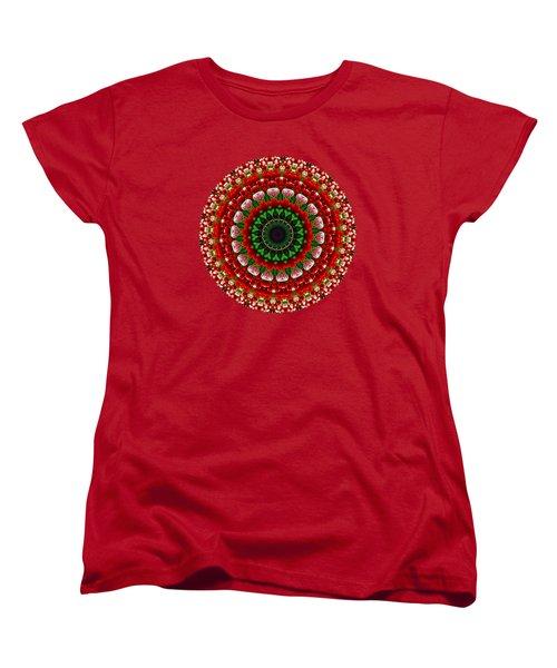 Mandala Tulipa By Kaye Menner Women's T-Shirt (Standard Cut) by Kaye Menner