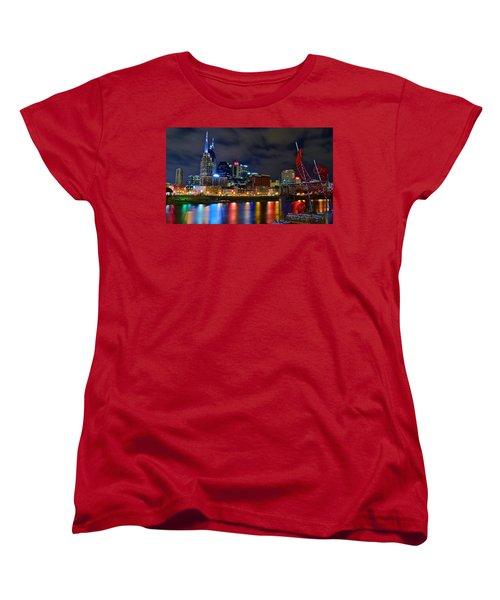 Nashville After Dark Women's T-Shirt (Standard Cut) by Frozen in Time Fine Art Photography