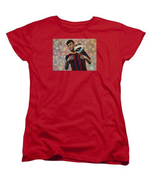 Neymar Women's T-Shirt (Standard Cut) by Paul Meijering
