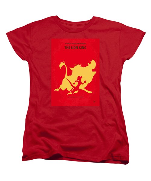 No512 My The Lion King Minimal Movie Poster Women's T-Shirt (Standard Cut) by Chungkong Art