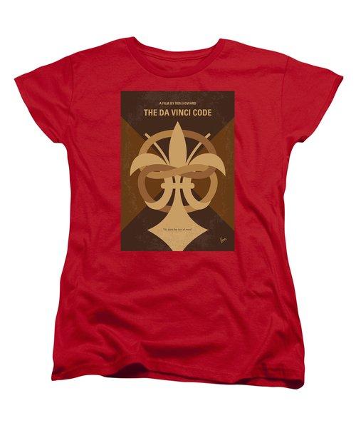 No548 My Da Vinci Code Minimal Movie Poster Women's T-Shirt (Standard Cut) by Chungkong Art
