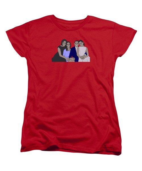 Obama Family Women's T-Shirt (Standard Cut) by Priscilla Wolfe