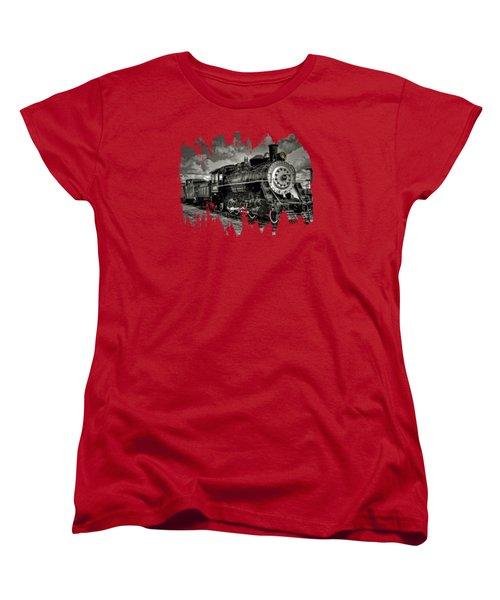 Old 104 Steam Engine Locomotive Women's T-Shirt (Standard Cut) by Thom Zehrfeld