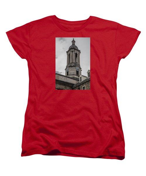 Old Main Penn State Clock  Women's T-Shirt (Standard Cut) by John McGraw