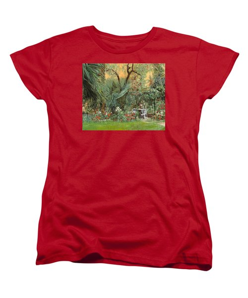 Our Little Garden Women's T-Shirt (Standard Cut) by Guido Borelli