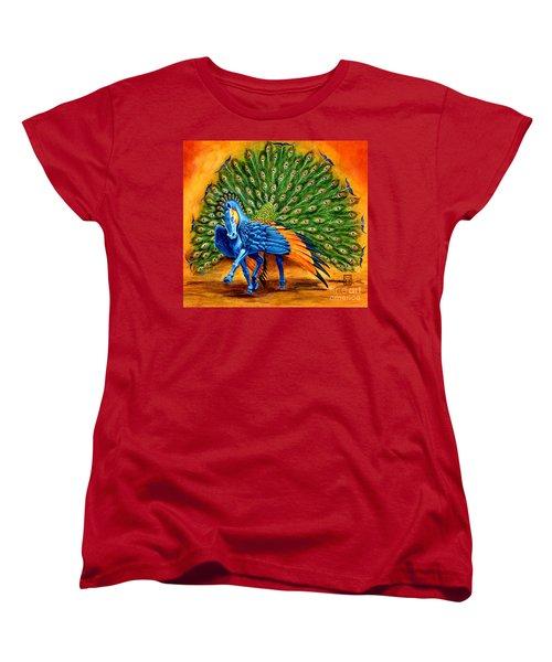 Peacock Pegasus Women's T-Shirt (Standard Cut) by Melissa A Benson