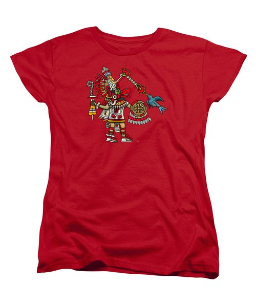 Quetzalcoatl In Human Warrior Form - Codex Magliabechiano Women's T-Shirt (Standard Cut) by Serge Averbukh