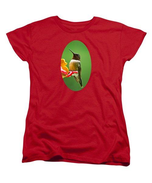 Rainy Day Hummingbird Women's T-Shirt (Standard Cut) by Christina Rollo