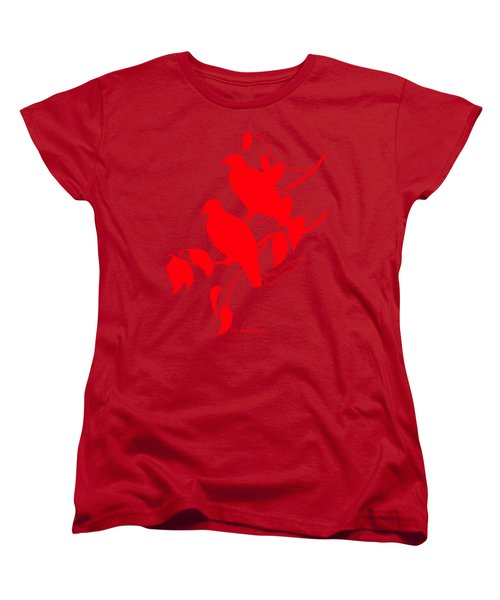 Red Doves Women's T-Shirt (Standard Cut) by The one eyed Raven