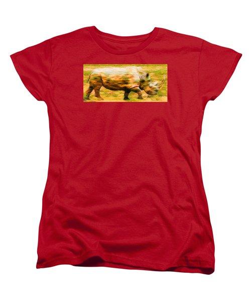 Rhinocerace Women's T-Shirt (Standard Cut) by Caito Junqueira