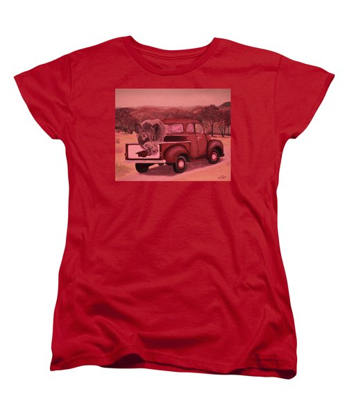 Ridin' With Razorbacks 3 Women's T-Shirt (Standard Cut) by Belinda Nagy