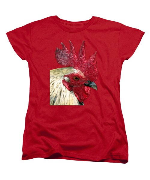 Rooster Women's T-Shirt (Standard Cut) by Bob Slitzan