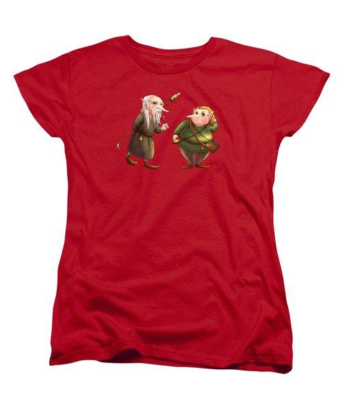 Rupert And Shuman Women's T-Shirt (Standard Cut) by Reynold Jay