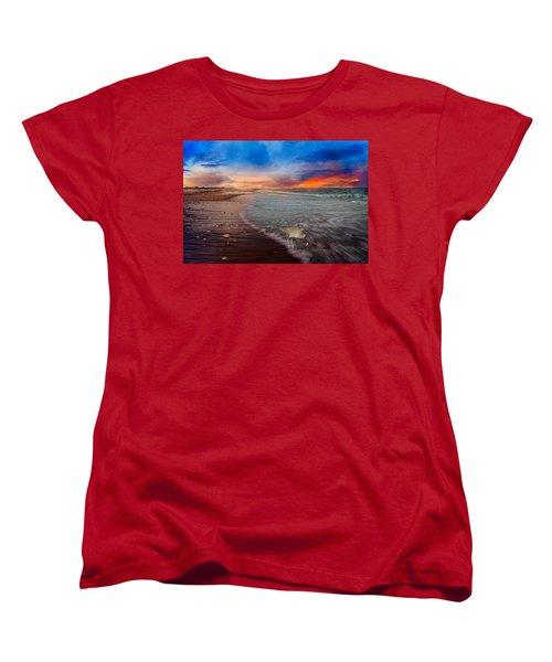 Sandpiper Sunrise Women's T-Shirt (Standard Cut) by Betsy Knapp