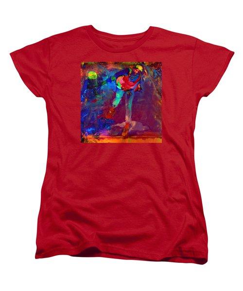 Serena Williams Return Explosion Women's T-Shirt (Standard Cut) by Brian Reaves