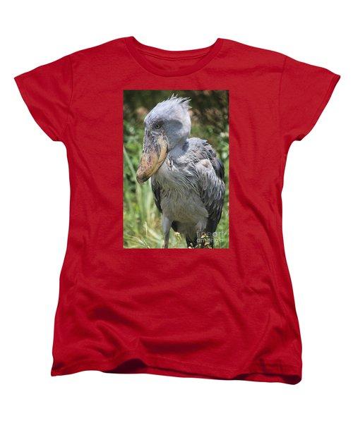 Shoebill Stork Women's T-Shirt (Standard Cut) by Carol Groenen