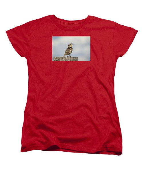 Singing A Song Women's T-Shirt (Standard Cut) by Thomas Young