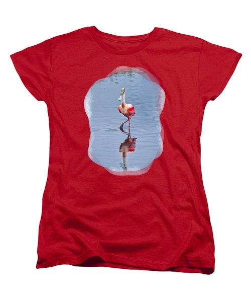 Spoonbill 2 Women's T-Shirt (Standard Cut) by John M Bailey