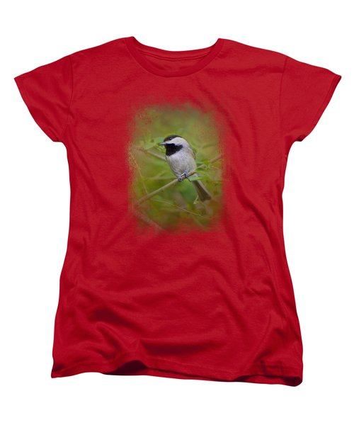 Spring Chickadee Women's T-Shirt (Standard Cut) by Jai Johnson
