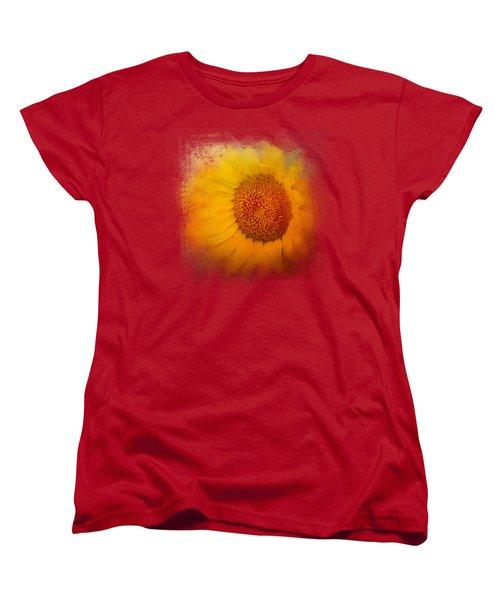Sunflower Surprise Women's T-Shirt (Standard Cut) by Jai Johnson