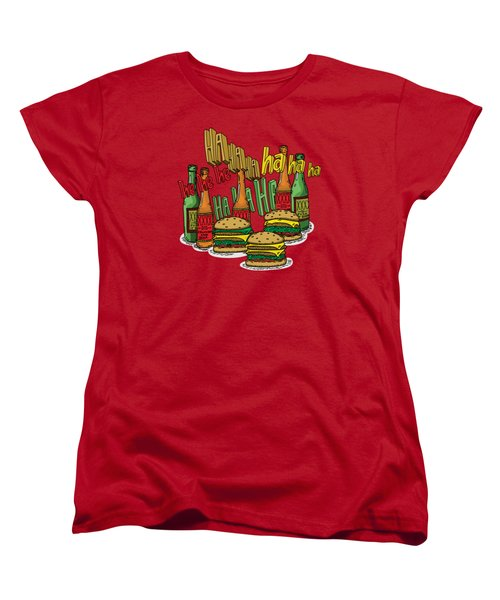 The Big Lebowski  Some Burgers Some Beers And A Few Laughs  In And Out Burger Jeff Lebowski Women's T-Shirt (Standard Cut) by Paul Telling