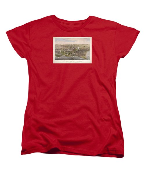 The City Of Washington Women's T-Shirt (Standard Cut) by Charles Richard Parsons