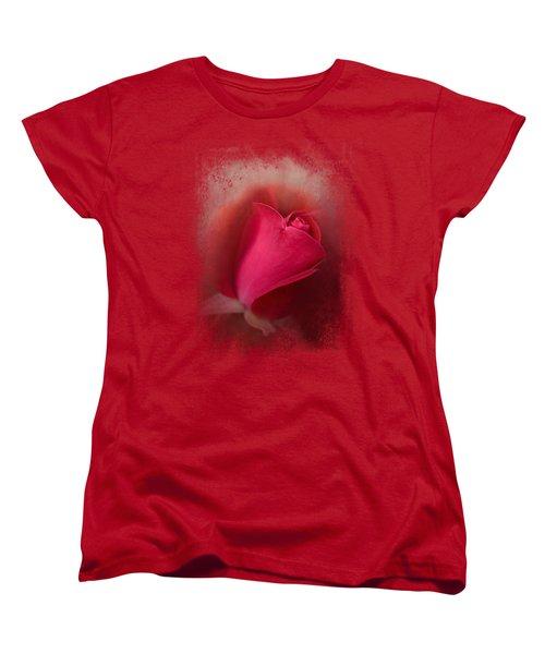 The First Red Rose Women's T-Shirt (Standard Cut) by Jai Johnson