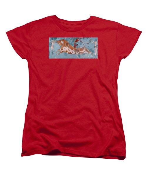 The Toreador Fresco, Knossos Palace, Crete Women's T-Shirt (Standard Cut) by Greek School