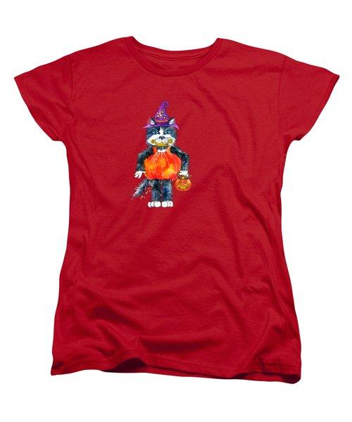 Trick Or Treat Women's T-Shirt (Standard Cut) by Shelley Wallace Ylst