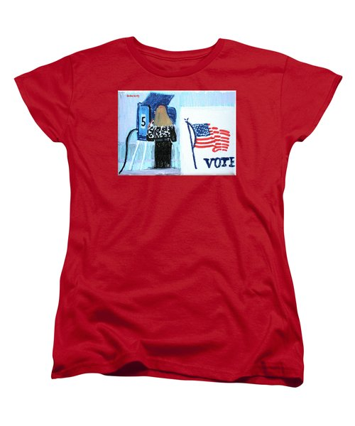 Voting Booth 2008 Women's T-Shirt (Standard Cut) by Candace Lovely