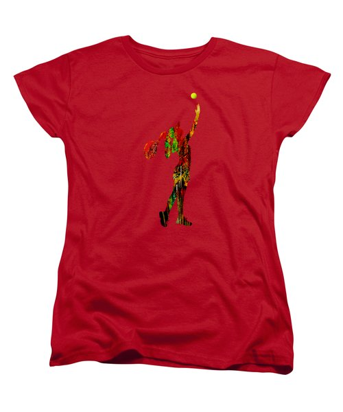 Womens Tennis Collection Women's T-Shirt (Standard Cut) by Marvin Blaine