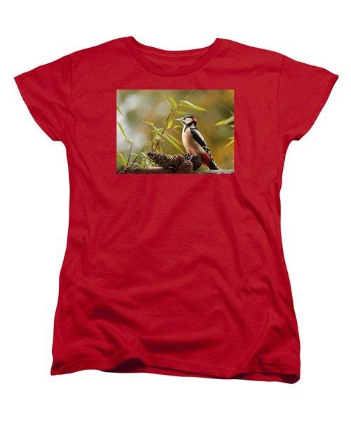 Woodpecker 3 Women's T-Shirt (Standard Cut) by Heike Hultsch