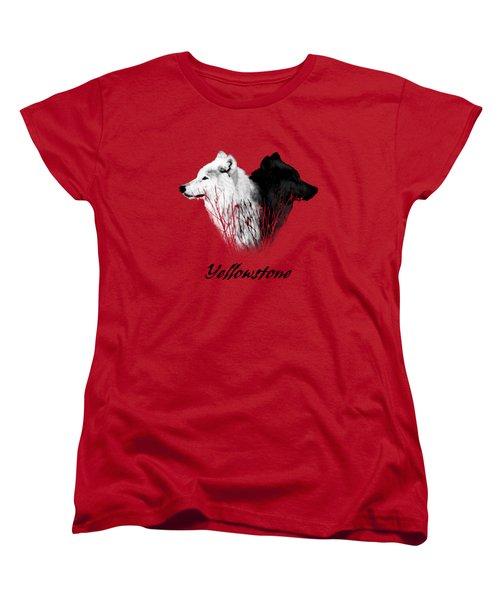 Yellowstone Wolves T-shirt Women's T-Shirt (Standard Cut) by Max Waugh