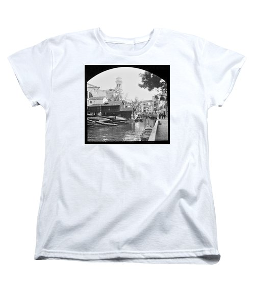 Women's T-Shirt (Standard Cut) featuring the photograph Pegnitz River Nuremberg Germany 1903 by A Gurmankin