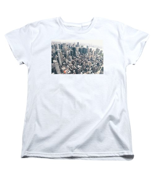 New York City From Above Women's T-Shirt (Standard Cut) by Vivienne Gucwa