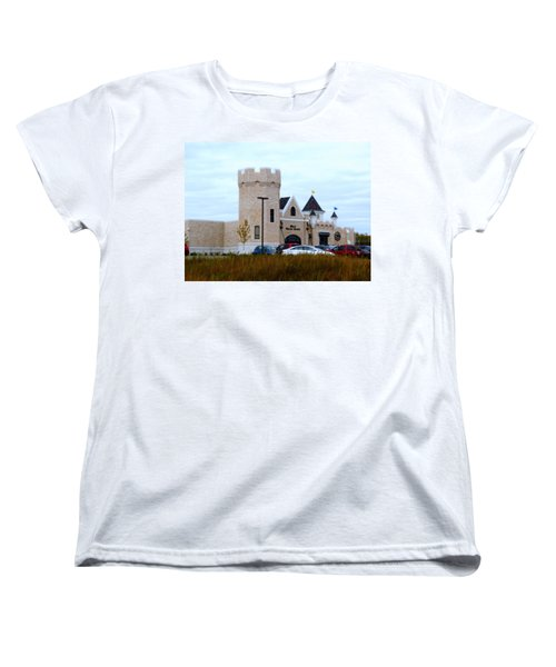 A Cheese Castle Women's T-Shirt (Standard Cut) by Kay Novy